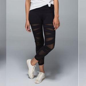 Lululemon asymmetrical mesh leggings black 4